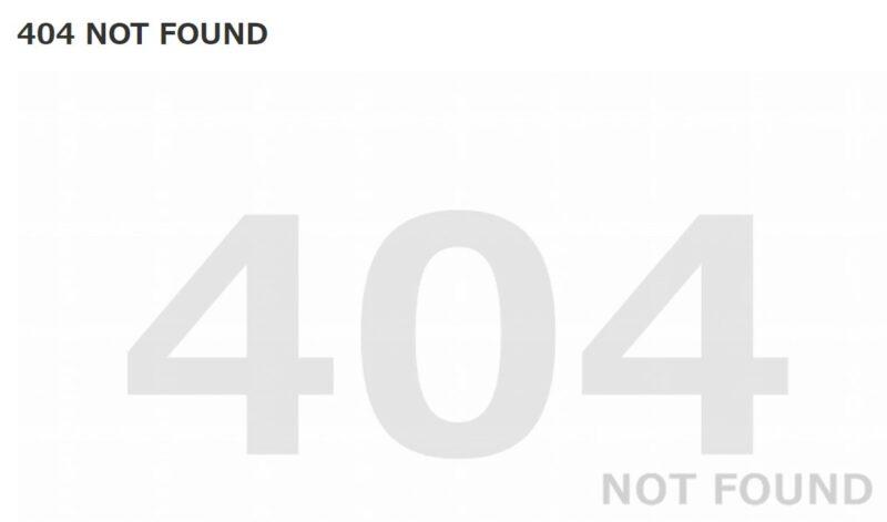 404エラー・ページ例