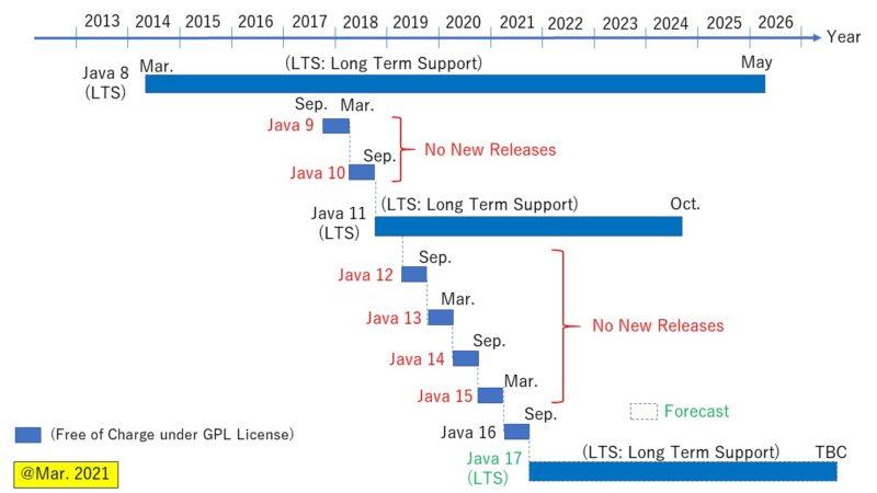 AdoptOpenJDK ロードマップ
